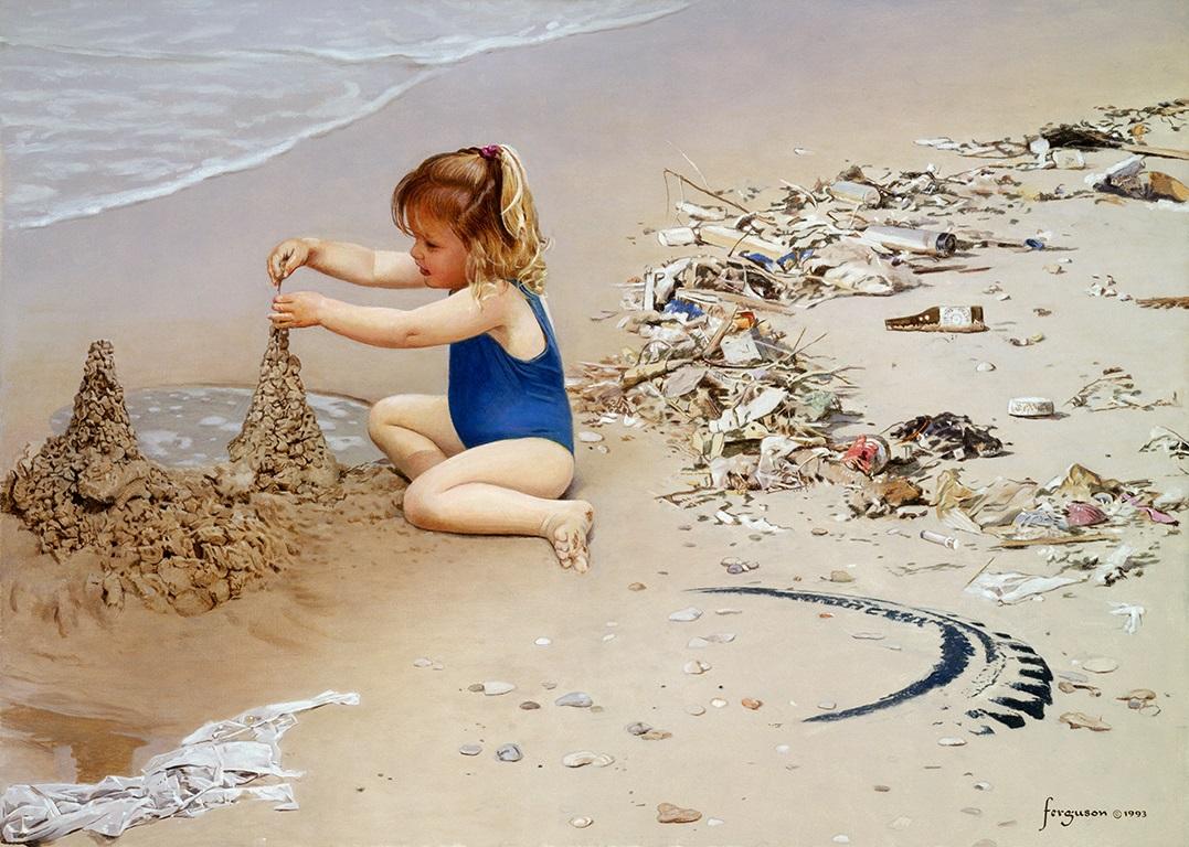 חוף מזוהם - צייר וולטר פרגסון