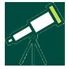 אייקון טלסקופ ירוק כהה
